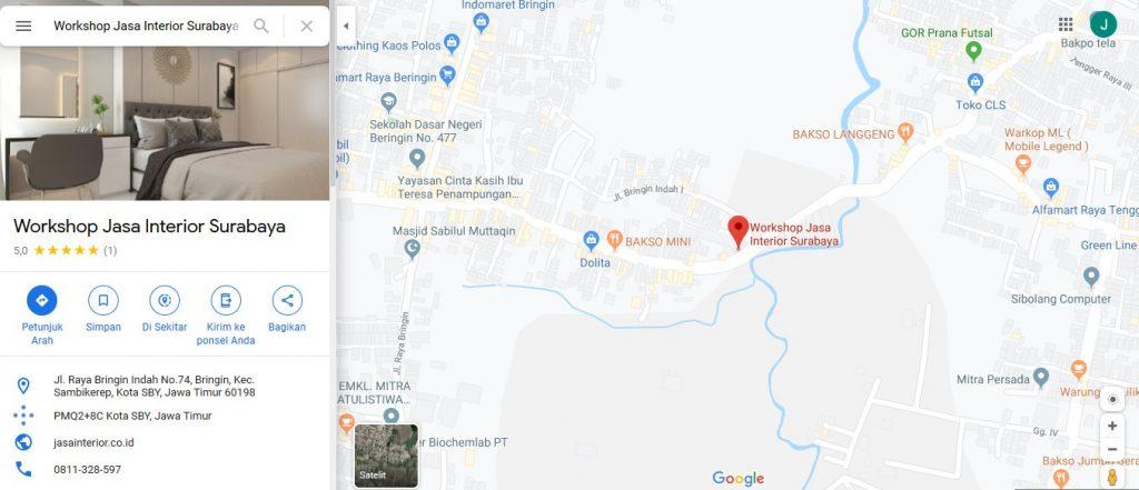 Map Lokasi Jasa Interior Surabaya
